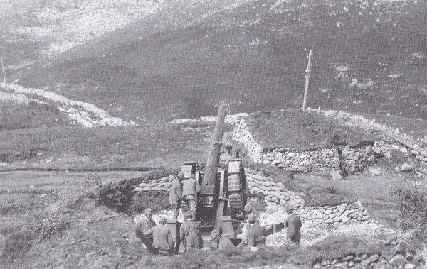 תמונה מס' ב7 - עמדת תותחים איטלקית ברכס קולובראט