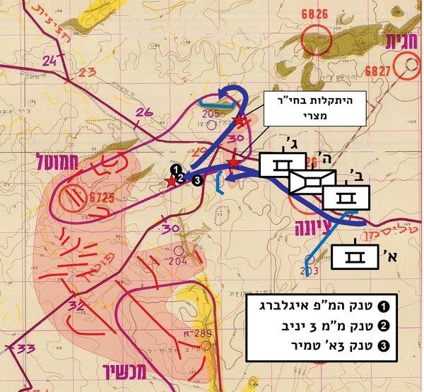 איור מס 35 - התקפת גדוד 429 19.10